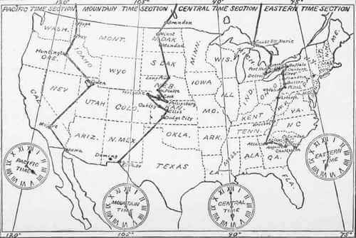 Map of Standard Time Sections