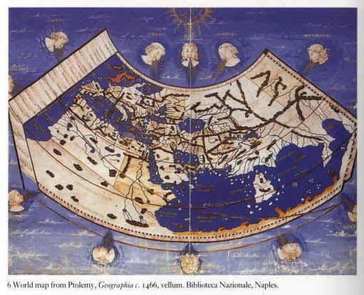 World map from Ptolemy Geographia